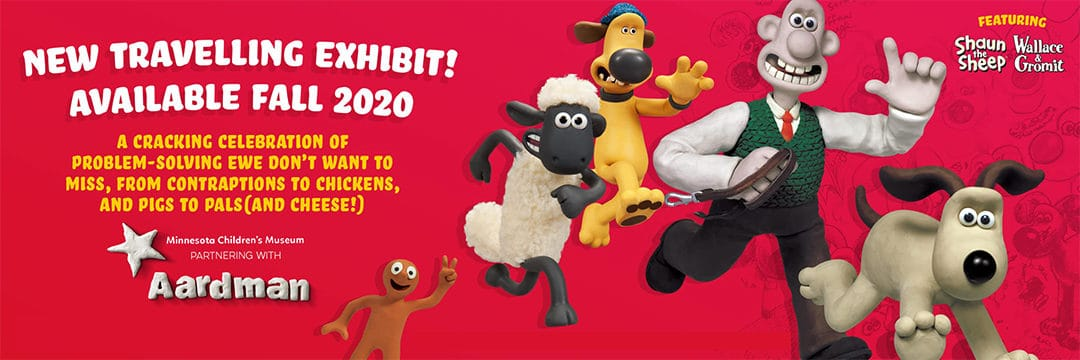 Minnesota Children's Museum Partners with Aardman on New Exhibit Titled Wallace & Gromit and Shaun the Sheep: Shear Genius!